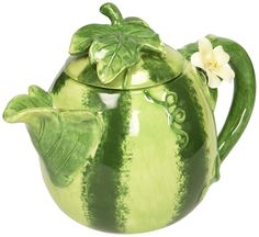 Ceramic Hand-Made Watermelon Teapot, Green -- New and awesome product awaits you, Read it now : Home Decor Collectible Figurines Collections Ect, Church Picnic, Ceramic Teapots, Chocolate Pots, Collectible Figurines, Watering Can, Decorating Your Home, Dinnerware, Watermelon