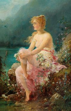 Hans Zatzka (1859 - 1945) - Water Lilies