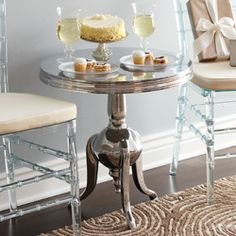 $199.20  Silver Occasional Table