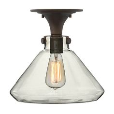 Hinkley Lighting 314 Congress Semi Flush Mount Ceiling Light with Cone Shaped Shade $199
