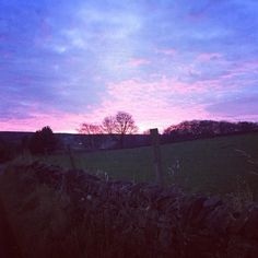 Stunning sunset over the Mayfield valley.