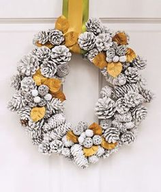 Pine cone wreath | Looking for new ways to deck the halls? Check these inspired holiday decorations.