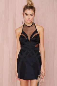 Nasty Gal Collection Tight Race Mesh Dress - Clothes