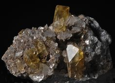 Golden Barite with Calcite.