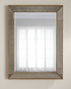 """Gold Beaded Mirror 36""""W x 3.5""""D x 48""""T."""