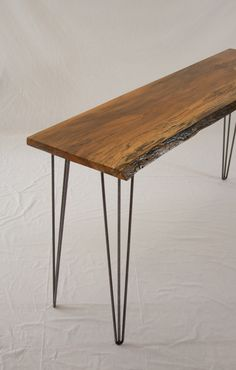 Spalted Sycamore Console Table - Reclaimed - Mid Century Rustic. $440.00, via Etsy.