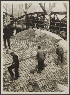 herstel st.servaasbrug 1933