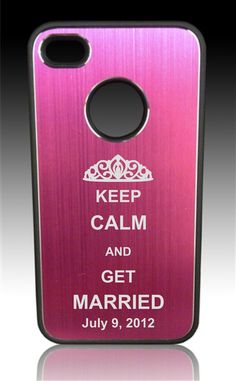 Keep Calm and Get Married! This iPhone 4/4s cover was such a great idea. It made the perfect engagement party gift from a maid of honor to her bride-to-be friend!  #BridalParty #WeddingGift #Bachelorette #iPhone #Gift  www.4yougifts.com
