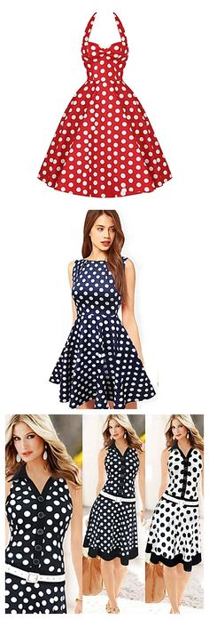 Sassy polka dots dresses. Love them?  90% OFF from 6.3-6.6 2015.
