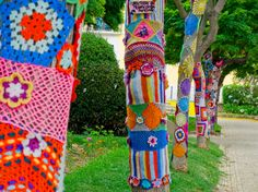 Photo about Yarn bombing in a trees. Image of ecological, knit, bombing - 43326349 Art Journal Pages, Yarn Bombing Trees, Guerilla Knitting, Days Of The Year, Everyday Objects, Drawing, Rue, Vintage Patterns, Decoration