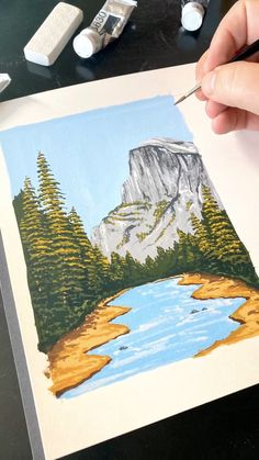 🏞 Painting Half Dome by Philip Boelter See more satisfying art videos like this on BoelterDesignCo. Small Canvas Art, Mini Canvas Art, Small Art, Arte Sketchbook, Fashion Sketchbook, Watercolor Sketchbook, Sketchbook Ideas, Aesthetic Painting, Art Drawings Sketches