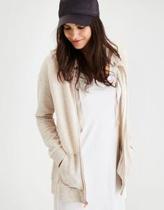 American Eagle Outfitters AE Soft & Sexy Long Full-Zip Hoodie#sale#adorable #cheapest #sponsored