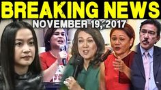 BREAKING NEWS TODAY NOVEMBER 19 2017 MOCHA l SARA DUTERTE l CJ SERENO l ...