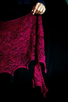 Ravelry: Mad Blood shawl pattern by Mary-Anne Mace