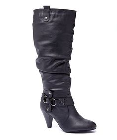 This Black Lisa Wide-Calf Boot is perfect! #zulilyfinds