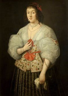 """Portrait of a Lady"", style of Marcus Gheeraerts the younger, ca. 1620; Towneley Hall BURGM:paoil185"