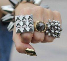 Studded square ring @ #JuDelovesYou