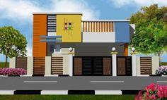 Single Floor House Design, House Front Design, Modern House Design, Front Elevation Designs, House Elevation, Indian Home Design, Indian House, Independent House, Smart House
