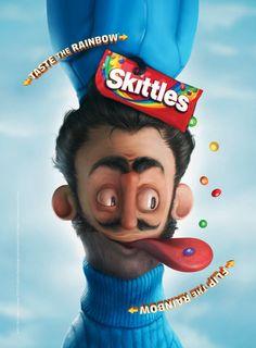Flip the rainbow. Taste the rainbow. #Skittles#advertising #advertisement