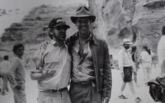 Spielberg & Ford on set Indiana Jones