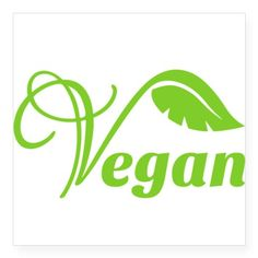 Green Vegan Symbol Sticker