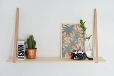 DIY | easy leather strap shelf @burkatron