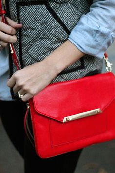 Add a pop of color this winter with the Tia Cross Body in Cerise by Stella & Dot #stelladotstyle