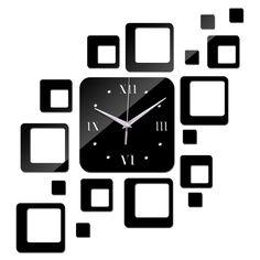 2015 vendita nuovo orologio da parete orologi home soggiorno quarzo acrilico moderno orologio decorazione adesivi 3d specchio diy spedizione gratuita