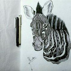Creative drawing :  Blank ink