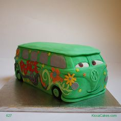 627 Fillmore VW Van Kids Cake. I really want to attempt this.