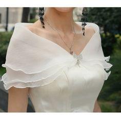 CIMC LLC Three Layers Voile Ruffled Bridal Wrap with Flow... http://www.amazon.com/dp/B00IM2CXU8/ref=cm_sw_r_pi_dp_n7Lixb14BS73K