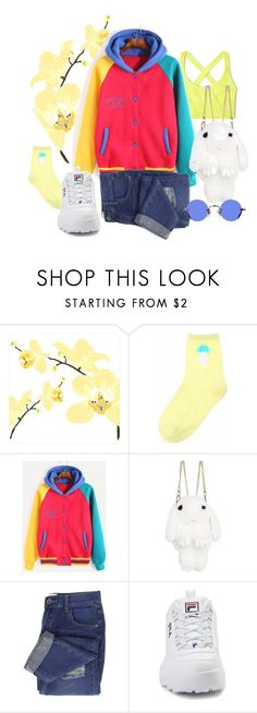 """""""Vanilla Bunny"""" by jessicajasr on Polyvore featuring Ana Accessories, Fila and Hakusan"""