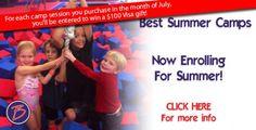 Best Gymnastics Summer Camp Visa Gift Card Giveaway  #kids  #gymnastics