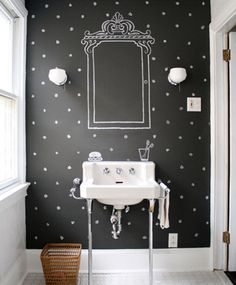 Chalkboard Polka Dot Bathroom Something I Want For When I Move Into  Different Houses If