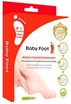 Aperçu du pack produit Baby Foot exfoliant