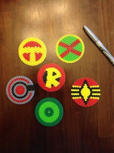DC comics superhero perler bead coasters by Mattsterpieces on Etsy