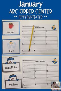 Check out this fantastic activity that helps students practice putting words in alphabetical order! This differentiated activity works great as Teacher Tools, Teacher Resources, Teacher Pay Teachers, Elementary Teacher, Elementary Schools, Teaching Kindergarten, Teaching Ideas, Thing 1, Activity Centers
