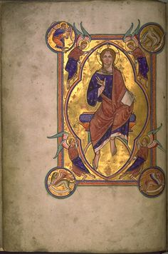 In the strictest definition of illuminated manuscript, only manuscripts with gold or silver, like this miniature of Christ in Majesty from the Aberdeen Bestiary (folio would be considered illuminated. An illuminated manuscript is a… Medieval Books, Medieval Manuscript, Medieval Art, Medieval Music, Illuminated Letters, Illuminated Manuscript, Music Manuscript, Arte Latina, Illumination Art