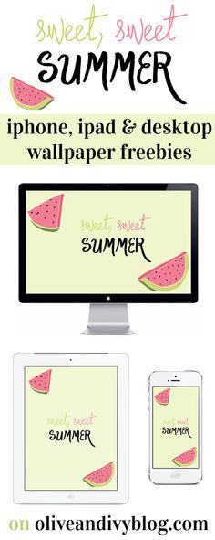 summer iphone, ipad, and desktop wallpaper