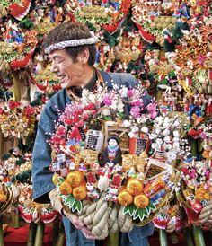 Tori no Ichi Fair (RAKE FAIR) is a famous annual event in November, Tokyo, Japan: photo by ajpscs