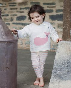 Jersey ballena rosa bebé niña | Corazón de león KIDS moda infantil