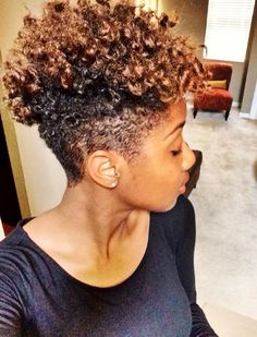Natural hair. Tapered. Twa. Color