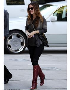 Rachel Bilson wears one of our favorite staple winter trends. See her look and others, here:
