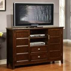 tall media console. Portland Collection Espresso Brown Tall TV Stand - Overstock™ Shopping Great Deals On WyndenHall Entertainment Centers Media Console O