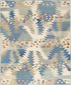 Vintage Swedish Scandinavian Rug 45509  http://nazmiyalantiquerugs.com/antique-rugs/swedish-kilim/