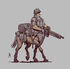 World War II Centaur by Jake Parker