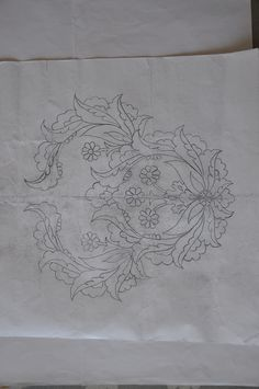 Border Embroidery Designs, Hand Work Embroidery, Hand Embroidery Patterns, Ribbon Embroidery, Applique Designs, Floral Embroidery, Fabric Patterns, Embroidery Stitches, Wreath Drawing