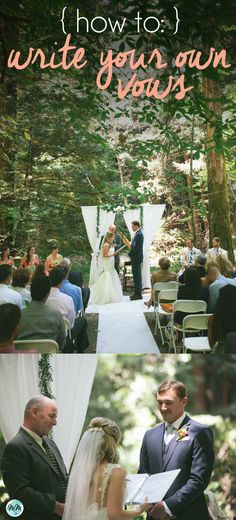 Wedding Wednesday: How to Write Your Own Vows Wedding Tips, Fall Wedding, Wedding Ceremony, Our Wedding, Wedding Planning, Dream Wedding, Simple Wedding Vows, Wedding Vows That Make You Cry, Wedding Wishes