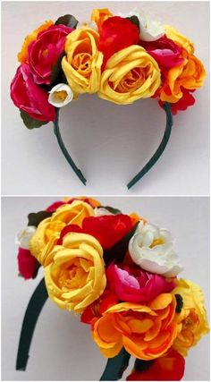 How To: Frida Kahlo inspired Floral Headband Cinco de Mayo costume Party Mottos, Mexican Fiesta Party, Mexican Theme Parties, Mexican Party Favors, Fiesta Party Favors, Thinking Day, Super Party, Floral Headbands, Floral Crowns
