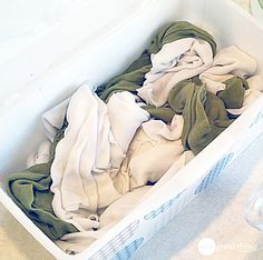"""homemade """"clorox"""" wipes - made out of old shirts, loads of rags ready to go to clean bathrooms, railings, remotes, light switches door knobs and more! wash and use them again!!"""